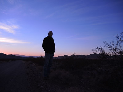 Joe Coveney at Sunrise, back in Death Valley. 11-08-2017, photo by Sherry