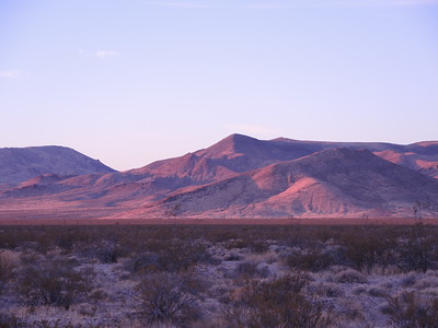 Sunrise in Death Valley on 11-08-2017, photo by Sherry