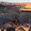 My camera on a small tripod on top of Zabriskie Point taking photos of the sunrise