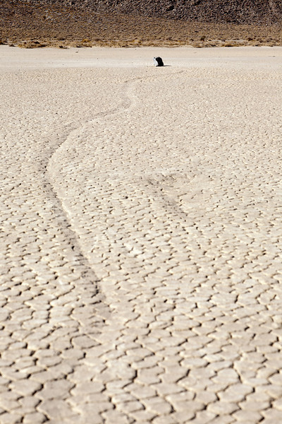 Rock Trails at Racetrack Playa, Death Valley, California