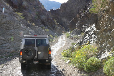 Heading back out down Goler Wash.  03-18.