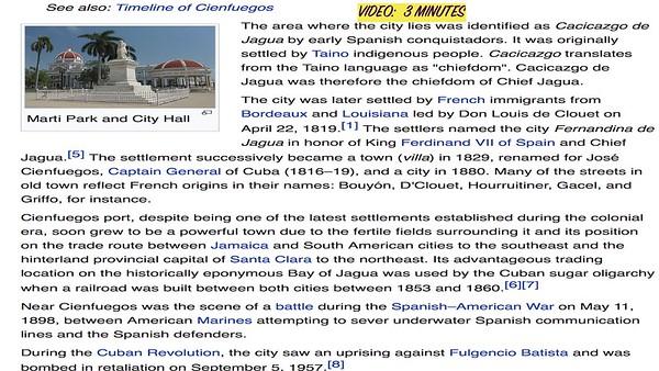 Video: 3 minutes ~~ Cienfuegos, Cuba City Center