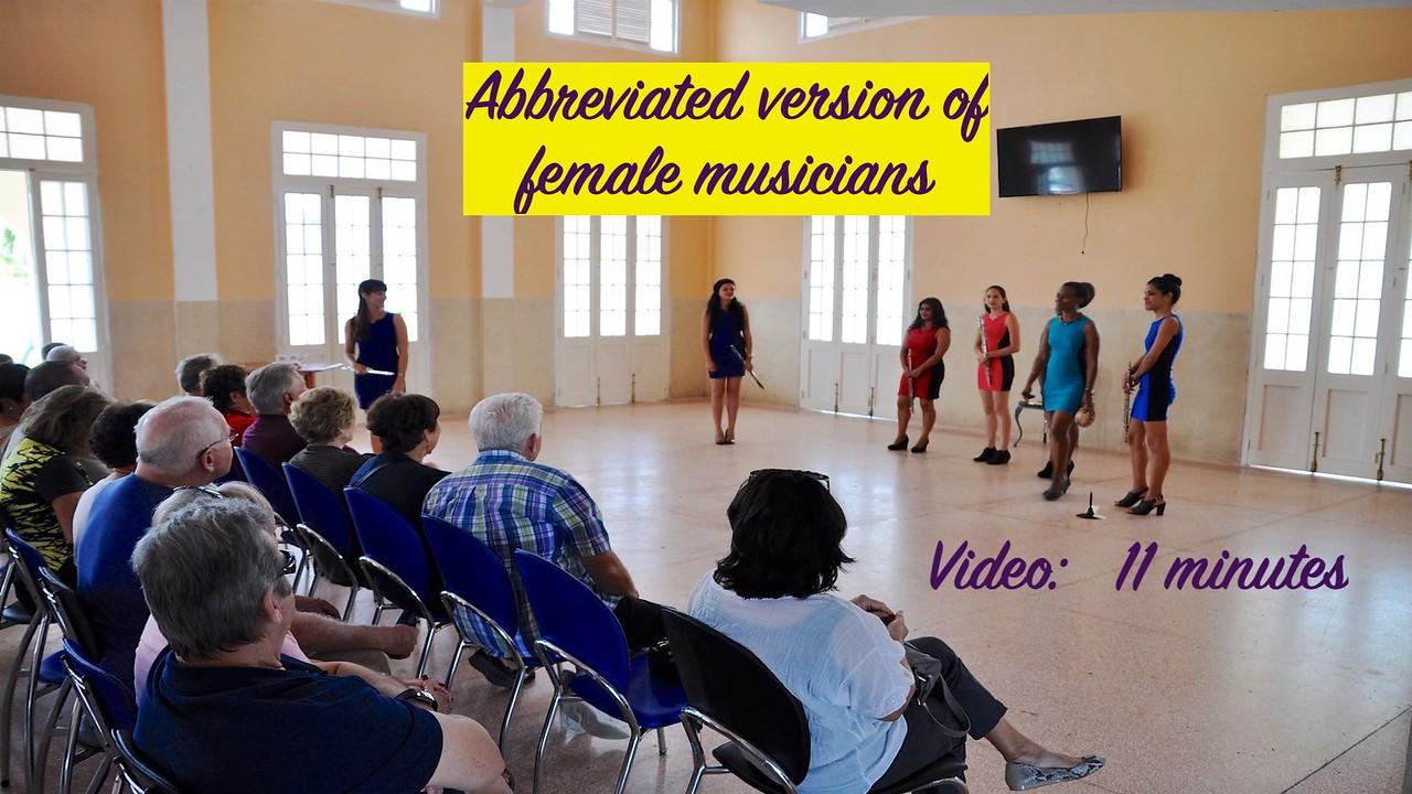 Video:  11 minutes - Female Musicians--Abbreviated Version
