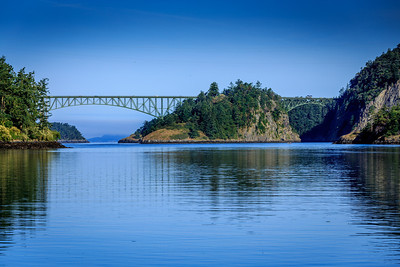 View of Deception Pass from Coronet Bay.