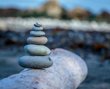 Seems you can never go to the beach without finding a stack of rocks like this one.