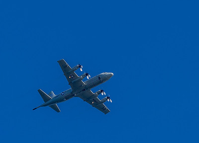 I believe this is a P3-Orion used by the Navy.  I would assume it was headed to the Whidbey Island Navy Air Station since it is only a few miles away from the park.