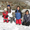 Team Snowman! Everyone's first snowman is a jolly fellow