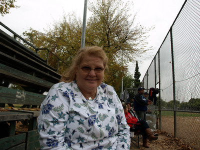 Kathy at the Bobby's ballgame.