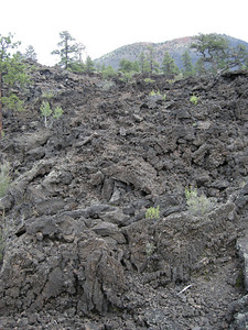 A recent lava flow near Sunset Crater.