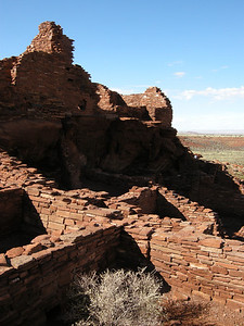 Another view of the center of Wupatki Pueblo.