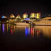 Sandestin, FL harbor at night