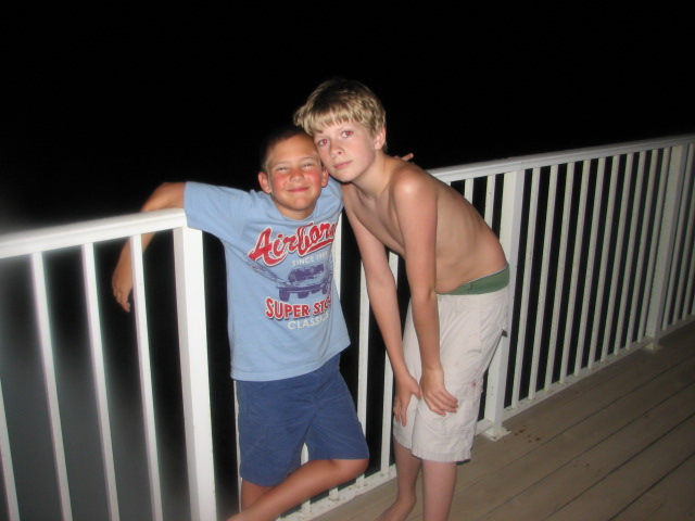 Garrett's BFF from the trip was Nathan (Scott's son).  They were inseparable.