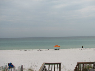 We were right on the beach.  This was the view from the porch.