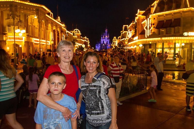 Crowded night at the Magic kingdom.