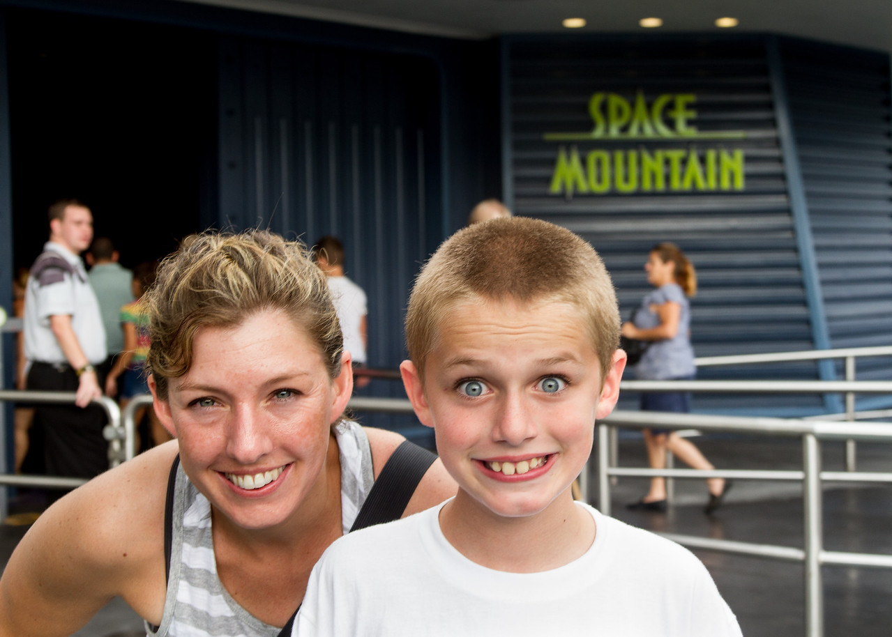 After his first ride on Space Mountain.