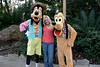 Disney Animal Kingdom 015<br /> DinoLand. Andrea with Pluto & Goofy