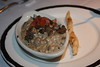 Renee's appetizer:  <br /> Wild Mushroom Risotto and Porcini Twist<br /> Served with Parmigiano-Reggiano and Black Truffle Oil