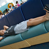 While waiting for mom to register for the kid activities, Jacob took the opportunity to relax before his cruise
