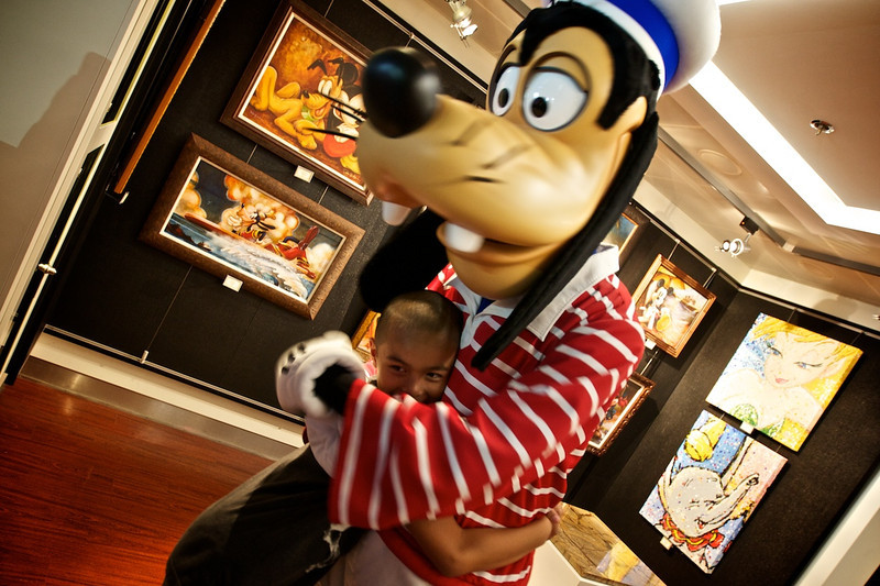 Ran into Goofy during the tour