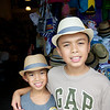 In Nassau, the boys picked up some hats @ the local market
