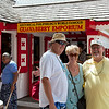 Our friends Steve and Ann outside the guavaberry emporium.  You can get a good buzz by sampling the various forums of Guavaberry avialable for sail:  syrup, liquer, shots, etc.