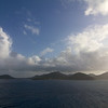 The start of a beautiful tropicl morning as the sun rises over the Antilles.