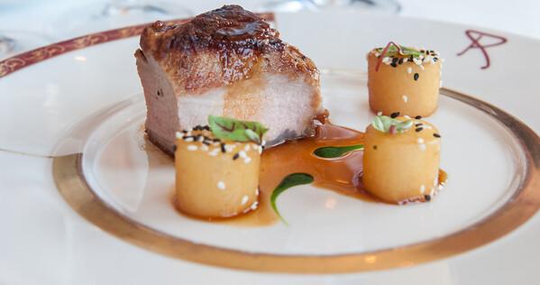 Gascogne Pork Loin,Turnips Chef Arnaud Lallement