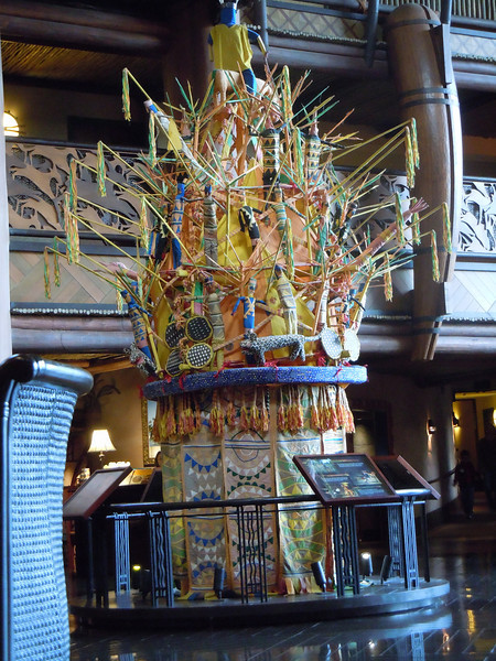 A display/statue inside the lobby of the hotel.