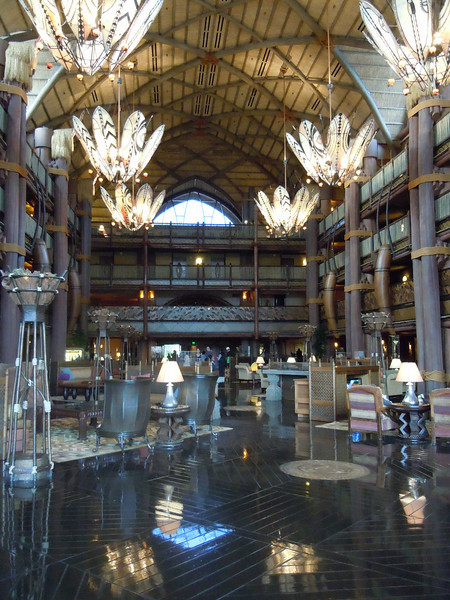 Animal Kingdom Lodge lobby - one of the best ones of all the Disney hotels imo.
