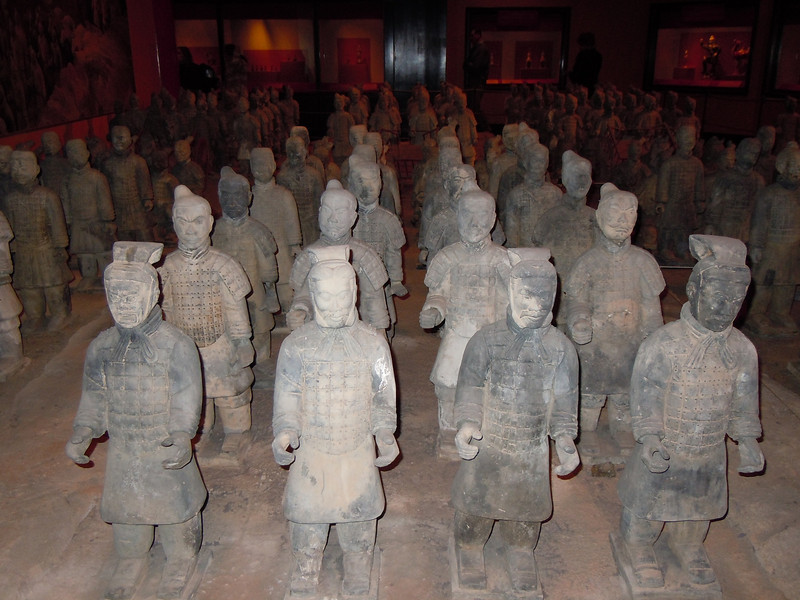 "Terracotta (sp) army. <a href=""http://en.wikipedia.org/wiki/Terracotta_Army"">http://en.wikipedia.org/wiki/Terracotta_Army</a>"