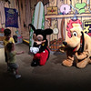 Private meeting with Mickey and friends