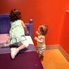 Emma also playing with a new friend at innovations