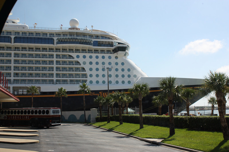 Arrival at Port Canaveral to board the Disney Fantasy
