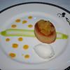 John's dessert:<br /> Pineapple Financier<br /> Almond Cake served with Whipped Cream