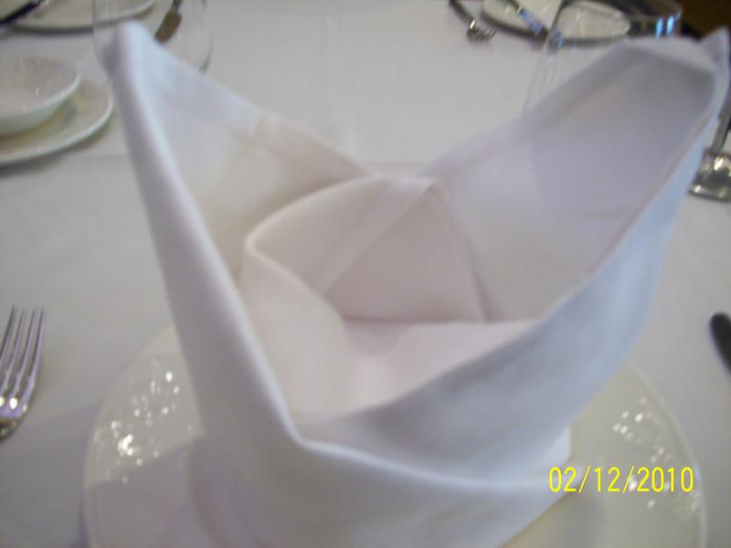 Lunch napkin at Triton's.