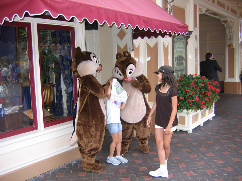 Chip and Dale playing around with Heather