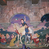 Mural at the end of Snow White's Scary Adventure
