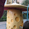 Giant mushroom on Alice in Wonderland