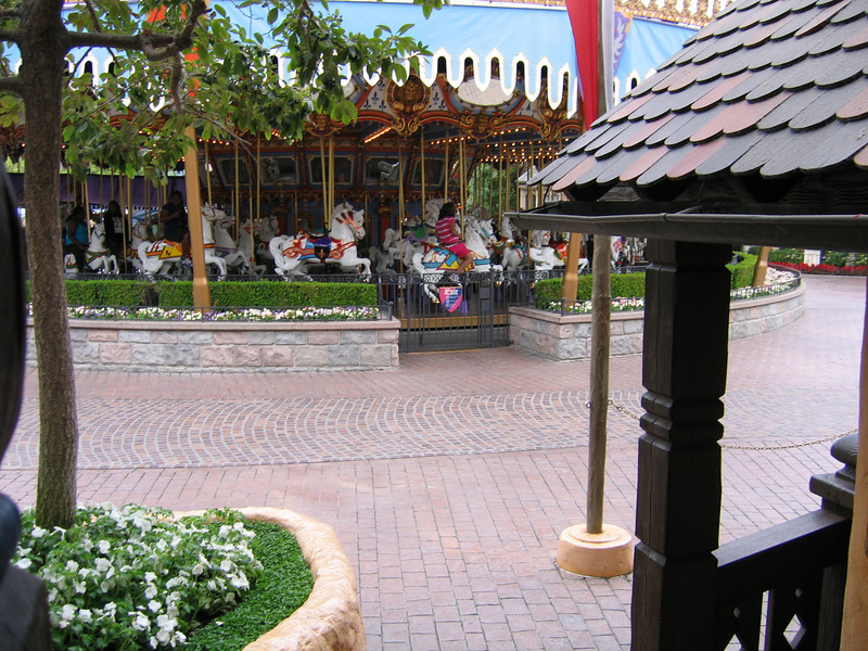 View of Fantasyland from Pinocchio's Daring Journey