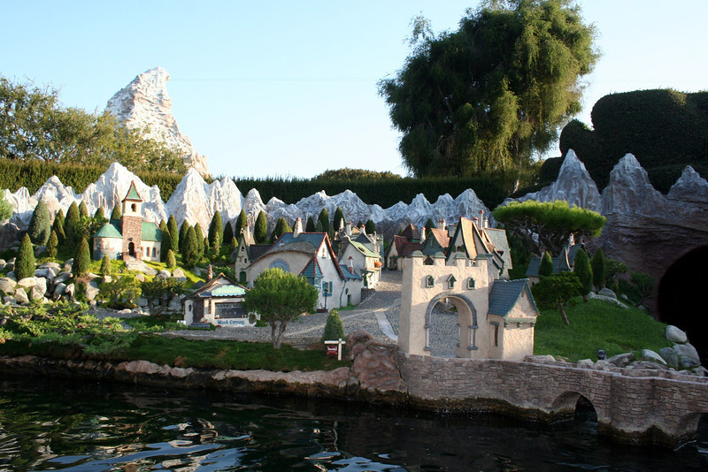 Pinocchio's cobblestone village with Geppetto's wood shop