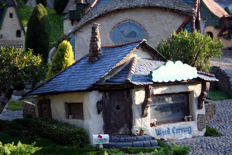The dwarfs' cottage and mine from Snow White and the Seven Dwarfs