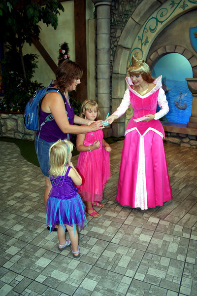 We waited in line for over an hour. Which made Anissa & Makenna's day.  They got to see Aurora