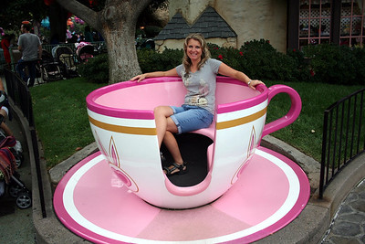 I do not ride the Tea Cup ride as it would make me sick.  But I love this one as it never moves. I can handle this Tea Cup.