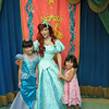 Evelyn and Heather posing with Ariel at Ariel's Grotto.