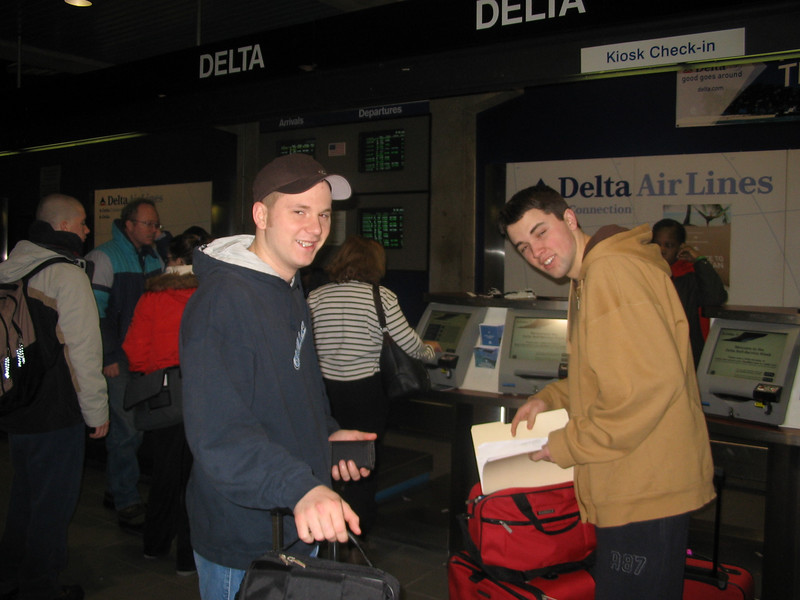 Rob and Chuck at Airport