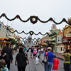 Christmas Decor down Main Street at MK.