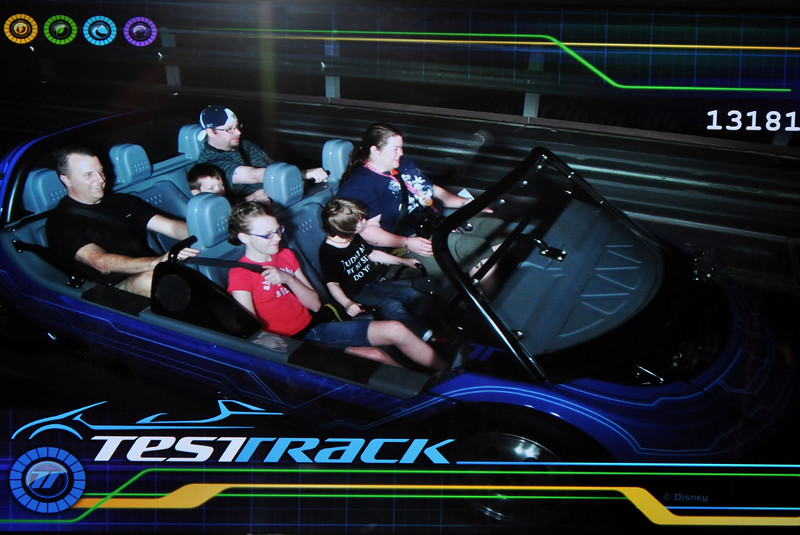 Our Test Track shot-picture of a picture on a monitor. ;)