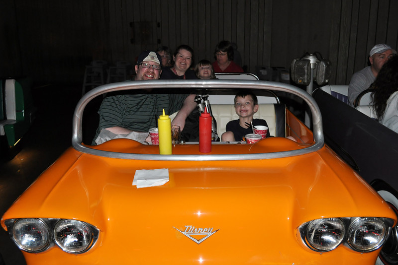 Our car at the Sci Fi Drive in resturant, Hollywood Studio 12.12.12