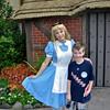 Chandler & Alice in Wonderland at Epcot.