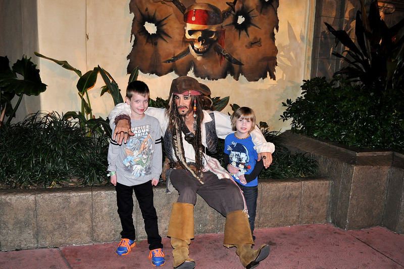 CAPTAIN Jack Sparrow and the boys. Do NOT forget the Captain part! LOL.